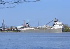 Up the River (GLC 392) Tags: railroad bridge ohio river ship great lakes grand toledo transportation lower navigation kraft freighter maumee nabisco saginaw llt wle