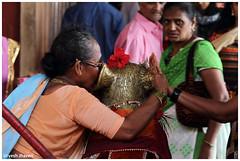 Whispering to God!! (Urvesh Jhaveri) Tags: india beach lady mouse temple whispering hand god ganesh maharastra konkan ganpatipule