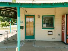 Office (BradPerkins) Tags: old abandoned antique decay neglected motel coke retro urbanexploration americana discarded popmachine urbanlandscape cokemachine abandonedmotel leftbehind abandonedhotel greenpaint