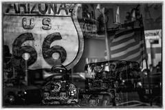 Curio Shop (_bobmcclure_) Tags: reflection window shop route66 flag nostalgia curio