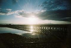 000027c (bigalid) Tags: sunset film 35mm toy harbour plastic shore northumbria april amble 2016 c41 fixedfocus vuws superheadzwideandslim agfaphotovistaplus200