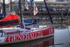 TransAt Yachts 30th April 2016 #10 (JDurston2009) Tags: red reflection water sailing harbour yacht plymouth barbican devon 131 sailingboat suttonharbour transat transatbakerly