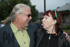 John and Lady (Paul McRae (Delta Niner)) Tags: sunglasses tongue ponytail redhair johnlea