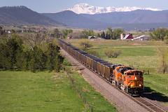 BNSF 9134 Castle Rock 22 May 16 (AK Ween) Tags: railroad train colorado bnsf pikespeak castlerock rampartrange emd coaltrain sd70ace jointline bnsf9134