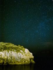 Cantabria nocturna (rodrifuji) Tags: longexposure sky espaa night stars noche estrellas cave isla cantabria paisage cueva largaexposicion