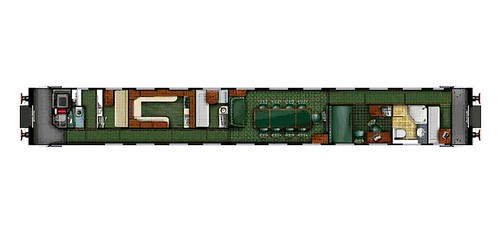Private Saloon Carriage Russia plan