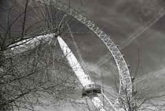 London Eye (goodfella2459) Tags: sky white black london eye film analog 35mm nikon fujifilm neopan 100 milf f4 acros strees