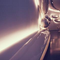 Forms (Olly Denton) Tags: lighting uk reflection london apple lines architecture canon design mac floor interior smooth round ios fulham roca zahahadid zha zahahadidarchitects 400d imperialwharf canon400d kissx digitalkissx vsco canondigitalkissx rocalondon vscocam rocalondongallery vscolondon