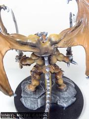 Rauthuros 5 (whitemetalgames.com) Tags: red orange white green grey reaper bat large dragons pit gargoyle toad demon huge devil medium winged fiend dungeons pathfinder balor