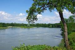 Confluence de la rivire d'Ain avec le Rhne (bernarddelefosse) Tags: france rhnealpes ain isre saintmauricedegourdans anthon lerhne riviredain confluence eau rivire fleuve