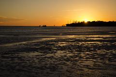 Low Tide Sunset DSL7580 (iloleo) Tags: sunset beach nature water landscape boats florida shoreline scenic colourful bonitasprings nikond7000