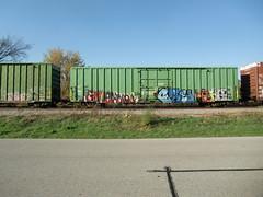 10-08-10 (38) (This Guy...) Tags: road railroad car train graffiti box graf rail rr traincar boxcar graff 2010