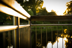 River Side (--Conrad-N--) Tags: spree river fluss friday fence reflections sunset