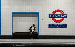 Get Ready (Peter Murrell) Tags: london platform streetphotography commuter londonunderground londontransport aldgateeast londonstreetphotography