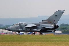 RAF Tornado (ZA553) (Fraser Murdoch) Tags: canon eos airport fighter force glasgow aircraft aviation military air jet royal international 12 fraser bomb tornado murdoch raf aerospace gla squadron 042 panavia gr4 reconnaissance marham 12b 650d egpf za553