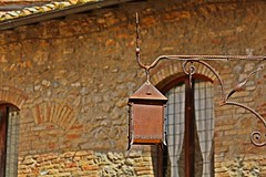 Light and iron (Emanuele Barcali) Tags: vacation sky italy sun black green tower love clouds countryside photo san artist view gimignano weekend withe sunny medieval hills tuscany sangimignano castello borgo castel torri blackwithe togheter