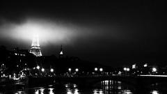Paris (johann walter bantz) Tags: bridge bw paris france fog europe toureiffel eiffelturm crue finearts monochome blackwhite2016 lumixlx100