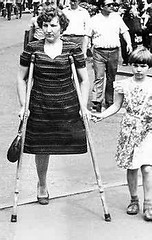 One legged Mom (jackcast2015) Tags: handicapped disabled disabledwoman cripledwoman onelegwoman oneleggedwoman monopede amputee legamputee crutches