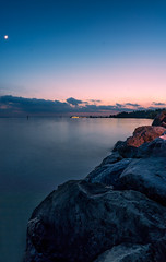 Lake of Constance (photography.MN) Tags: sunset sea lake reflection water clouds sunrise landscape austria switzerland ship sundown wind outdoor stones lindau bregenz cliffs constance lochau waterscape sailinh