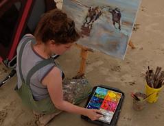 Schilderfestival (klaroen) Tags: schilder artist nederland painter kunstenaar noordwijk 2016 schilderfestival marcelleschoenmaker