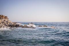 Breakwater (aleksey_kondratiev) Tags: turkey fethiye oludeniz mediterranean sea water blue wave waves seashore rocks sky
