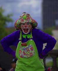 Lulu Clowning (swong95765) Tags: pose costume funny lulu clown humor makeup parade facepaint
