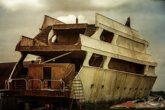 Abandoned (maria manuela photography) Tags: tranquility serenity adventure freedom travel tourism colors lights landscape light photography traveldestination ontherocean wanderlust ship harbor harborside sailing boat rust texture rustic louisiana clouds sky abandoned houma usa southern mariamanuelaphotography yacht