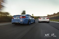 M Power Duo (PTworks) Tags: photography euro automotive rig bmw fir bbs edm m4 stance te37 akrapovic ptworks
