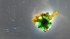 Green light orb planet (guenther_haas) Tags: longexposure light lightpainting green night 1932 germany deutschland nightshot little orb insel planet grn bol startrails nachtaufnahme langzeitbelichtung balloflight hugin neuulm kriegerdenkmal lightorb edwinscharff ricohthetas d77513518
