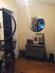 174/366 (moke076) Tags: home oneaday bike bicycle bronze project mirror design entrance cellphone cell front storage hallway entryway photoaday target 365 decorate entry iphone 2016 redecorate 366 influx project365 365project project366 vsco vscocam