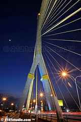 Bridge and Moon (2121studio) Tags: thailand siam travelphotography amazingthailand  travelinthailand  landoftiger landofwhiteelephant thaitourinformation