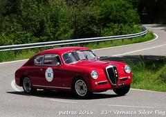 DSC_6571 - Lancia Aurelia B20 II Serie Competizione - 1953 - Mazzotto Paolo - Biondetti (pietroz) Tags: silver photo foto photos flag historic fotos pietro storico zoccola 21 storiche vernasca pietroz