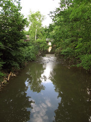 Berea 06-28-2016 - Rocky River 1 (David441491) Tags: reflection water river oh berea