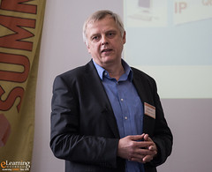 Dr. Martin Lindner, wissmuth.de im Wake-Up-Call (eLearning SUMMIT Tour) Tags: salzburg sterreich tour elearning blended summit learning 2016 palfinger thementag