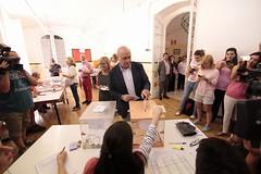 Jorge Fernández votando