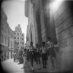 Cuba B&W (Nina Across the Universe) Tags: bw film holga havana cuba habana 120mm kodaktmax filmisnotdead medioformato