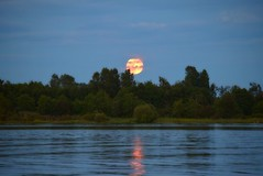 Strawberry Moon (careth@2012) Tags: moon reflection reflections landscape scenery view scenic scene strawberrymoon