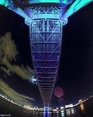 Bridge (yuk_miy) Tags: longexposure bridge japan architecture canon landscape tokyo cityscape nightscape nightview hdr rainbowbridge nightphotograph canonphotography