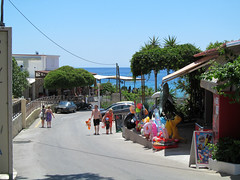 ...So we walked down to the beach (pefkosmad) Tags: sea vacation sky holiday beach june shop hellas greece greekislands pefkos rhodes beachroad 2016 dodecanese pefki leebeach pefkoi seaviewtaverna