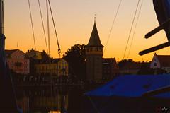 Hafen Lindau am Bodensee zur Goldenen Stunde 1/2 (afw | ph[o]to) Tags: germany de bayern deutschland verschiedenes places orte hdr goldenhour lindaubodensee 3px goldenestunde fahrradtourbodensee2016