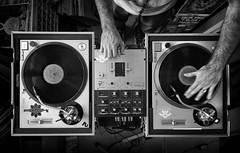 L1050830-Edit (John F. Roberts) Tags: bw music white black hands flickr dj folk spin record friday workin flickrfriday leicasl
