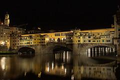 Ponte Vecchio (dewane) Tags: bridge italy reflection night river florence arno pontevecchio lungano hotellungano