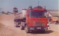 Hall Aggregates Seddon Atkinson artic 80082 - EPK540V . Chertsey Pit . Sat . 9/6/84 (busmothy) Tags: rmc