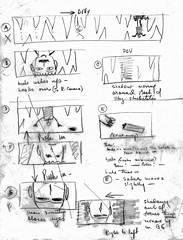 Irvin Kershner's storyboard for Luke in the Wampa Cave (Tom Simpson) Tags: starwars cave lukeskywalker storyboard behindthescenes hoth wampa theempirestrikesback