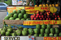 Watermelons, Costa Rica (dimarbeiz9) Tags: costarica seller sanjose agribusiness watermellon