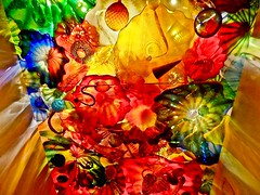Chihuly Glass Ceiling Light (BlueisCoool) Tags: color art glass photography photo rainbow artwork nikon colorful flickr artist foto bright image florida picture vivid coolpix capture dalechihuly blownglass glasssculpture glassart stpetersburgflorida chihulycollection chihulyglassceiling l330 moreanartscenter