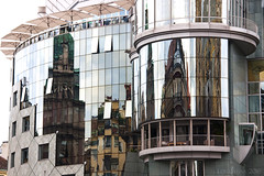 Wickedly Wondrous Windows - HWW! (lunaryuna) Tags: vienna windows building architecture hotel lunaryuna stephansplatz glassfacade reflectionsdistortions windowswednesday stephansdomreflected