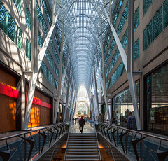 Allen Lambert Galleria at BCE Place (Chimay Bleue) Tags: santiago toronto ontario canada architecture modern stairs design downtown allen place contemporary interior arcade arches stairwell architectural architect calatrava brookfield to lambert galleria modernist bce