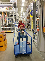 Another successful trip to Lowes (babyfella2007) Tags: pictures christmas old white playing jason black sc mushroom hat ball carson children outside restaurant dance child phone dancing cola drink eating grant south father barrel young balls coke son pit donuts taylor carolina cracker doughnuts duncan coca beaufort goodwill mellow batesburg