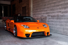 NSX vs GTR (Dylan King Photography) Tags: orange canada vancouver work honda grey nikon downtown nissan bc body wheels gray wide wing columbia british carbon fiber rims acura matte nsx gtr widebody d90 2013